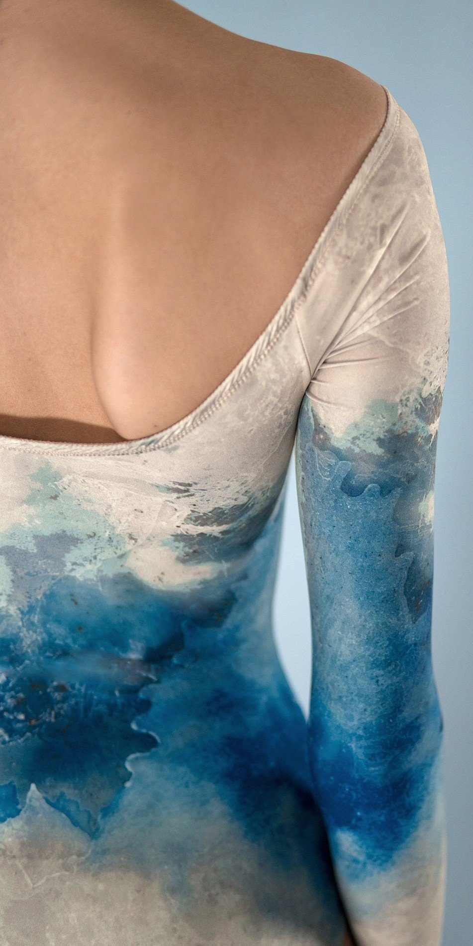 CRYSTAL leotard with sleeves blue 7 r