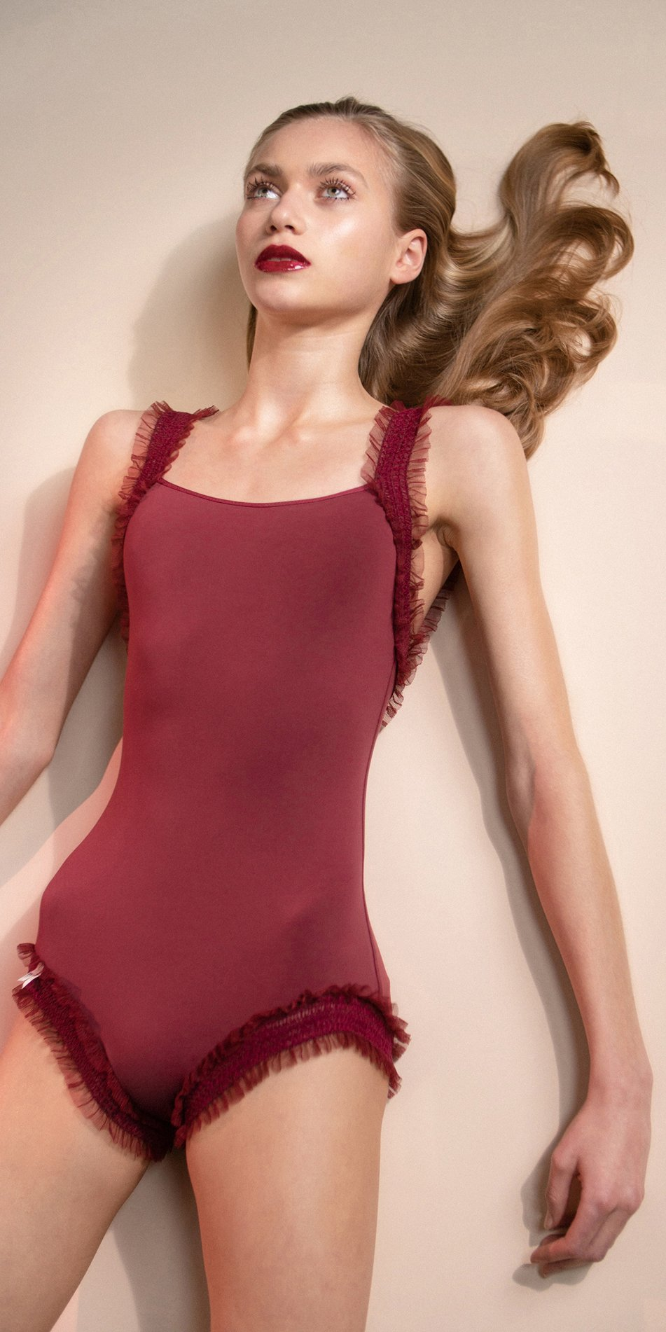 ELEANOR – red leotard with straps 2
