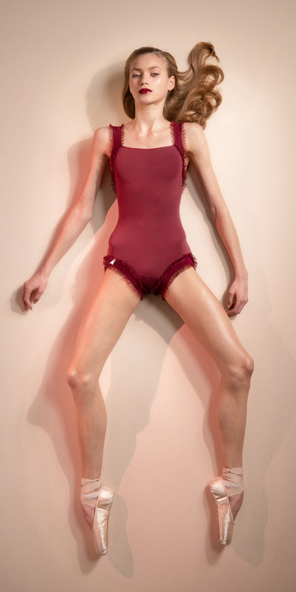 ELEANOR – red leotard with straps 5