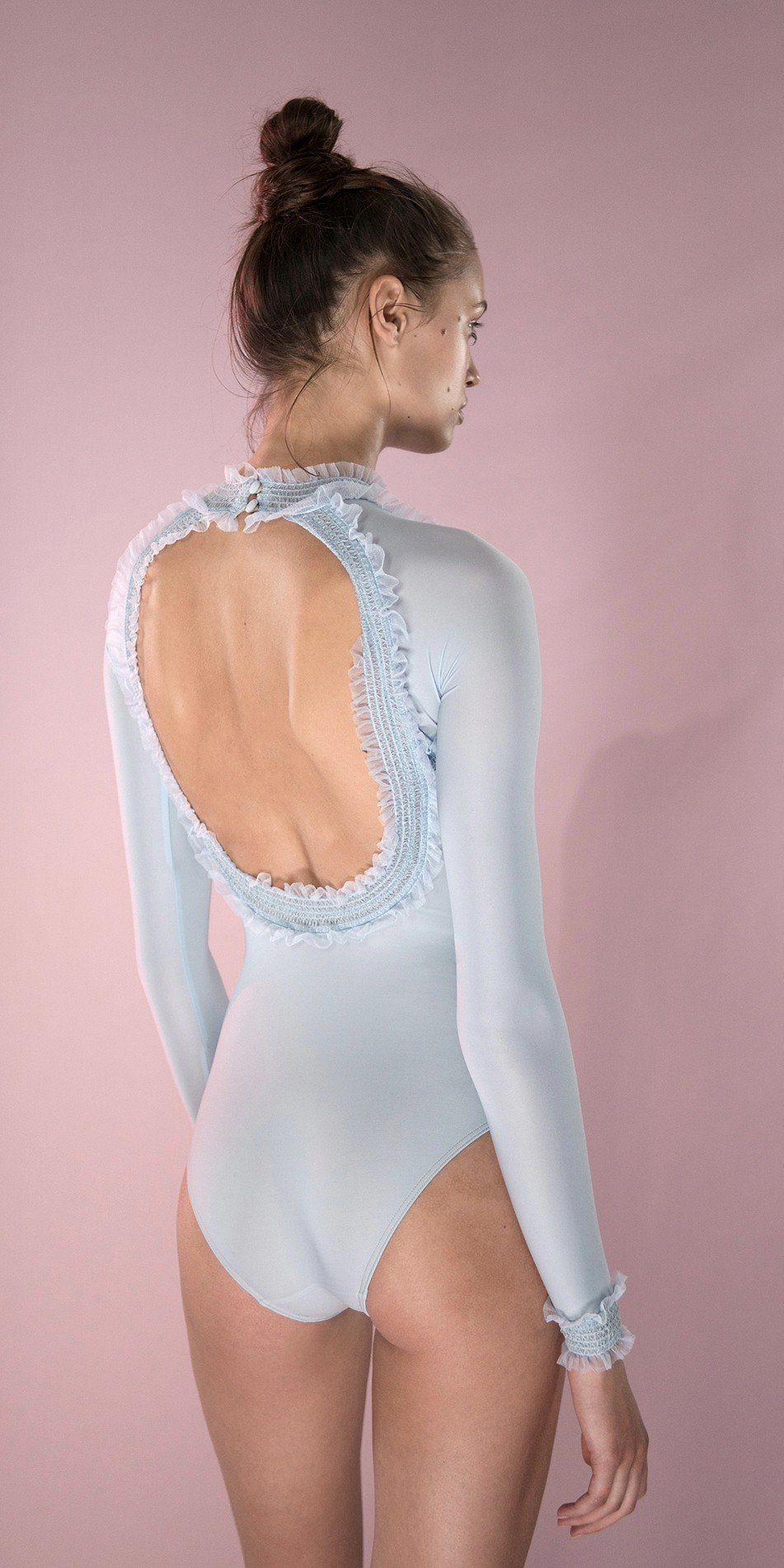ELEANORE backless leotard blue 5 r 2