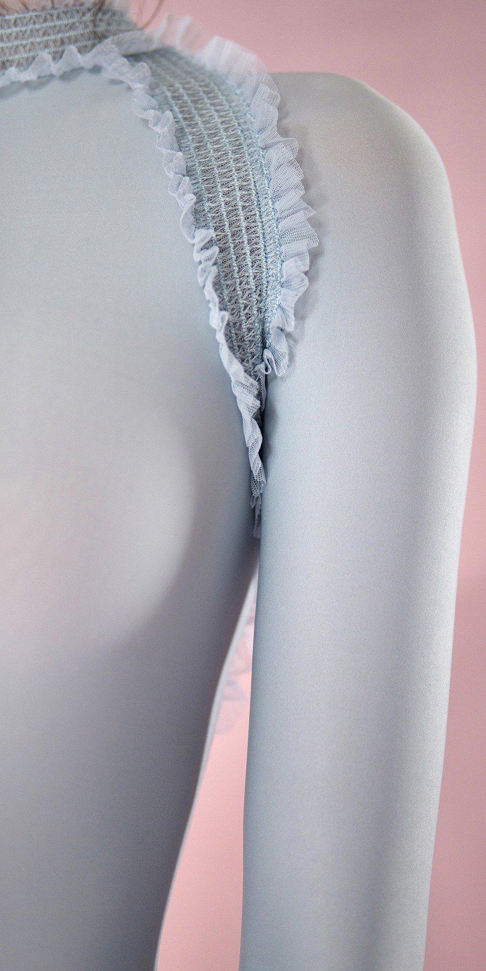 ELEANORE backless leotard blue 8 r 2