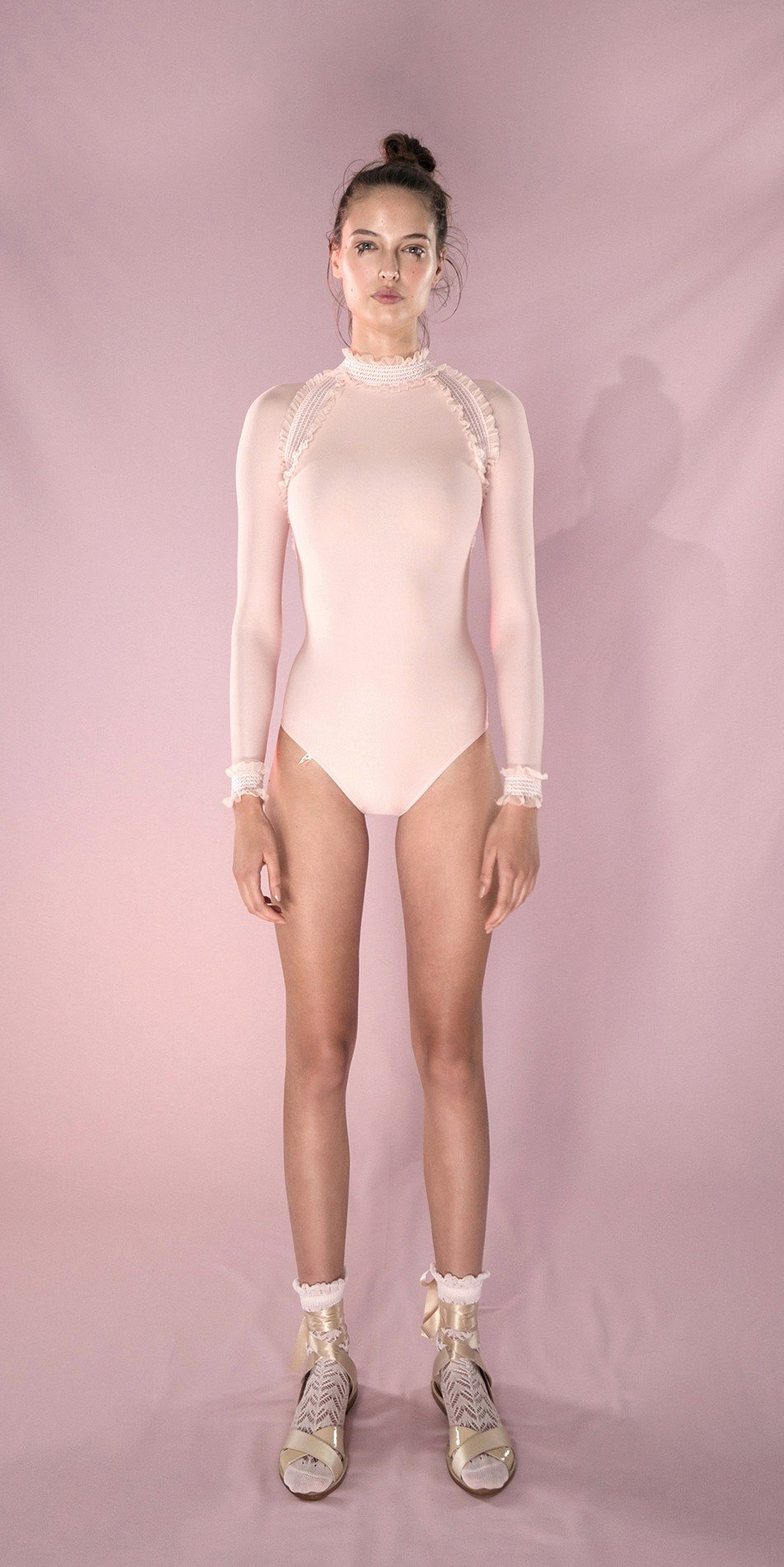 ELEANORE backless leotard blush 1 r 2