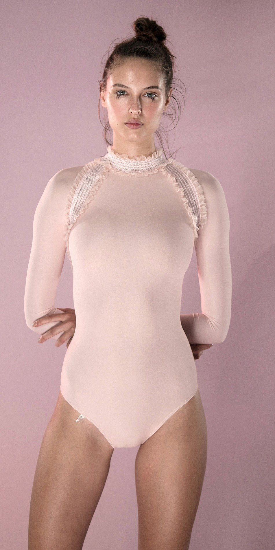 ELEANORE backless leotard blush 2 r 2