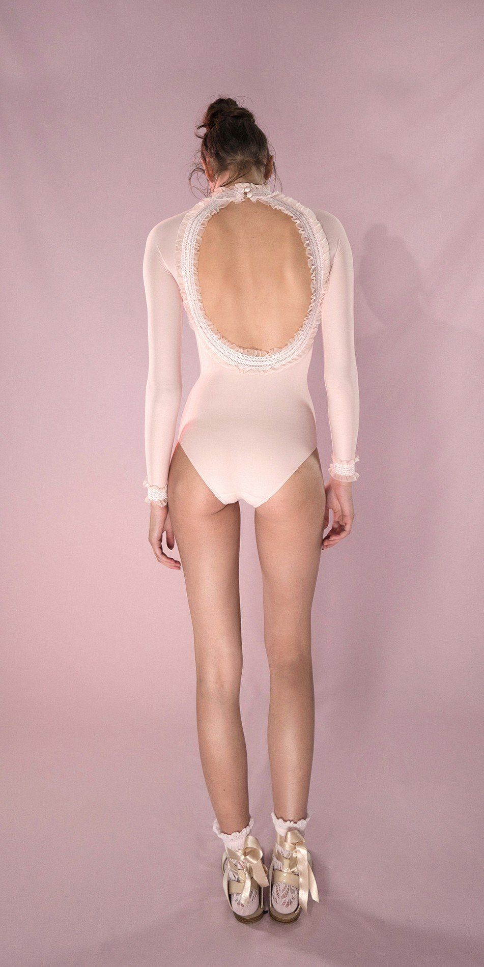 ELEANORE backless leotard blush 3 r 2