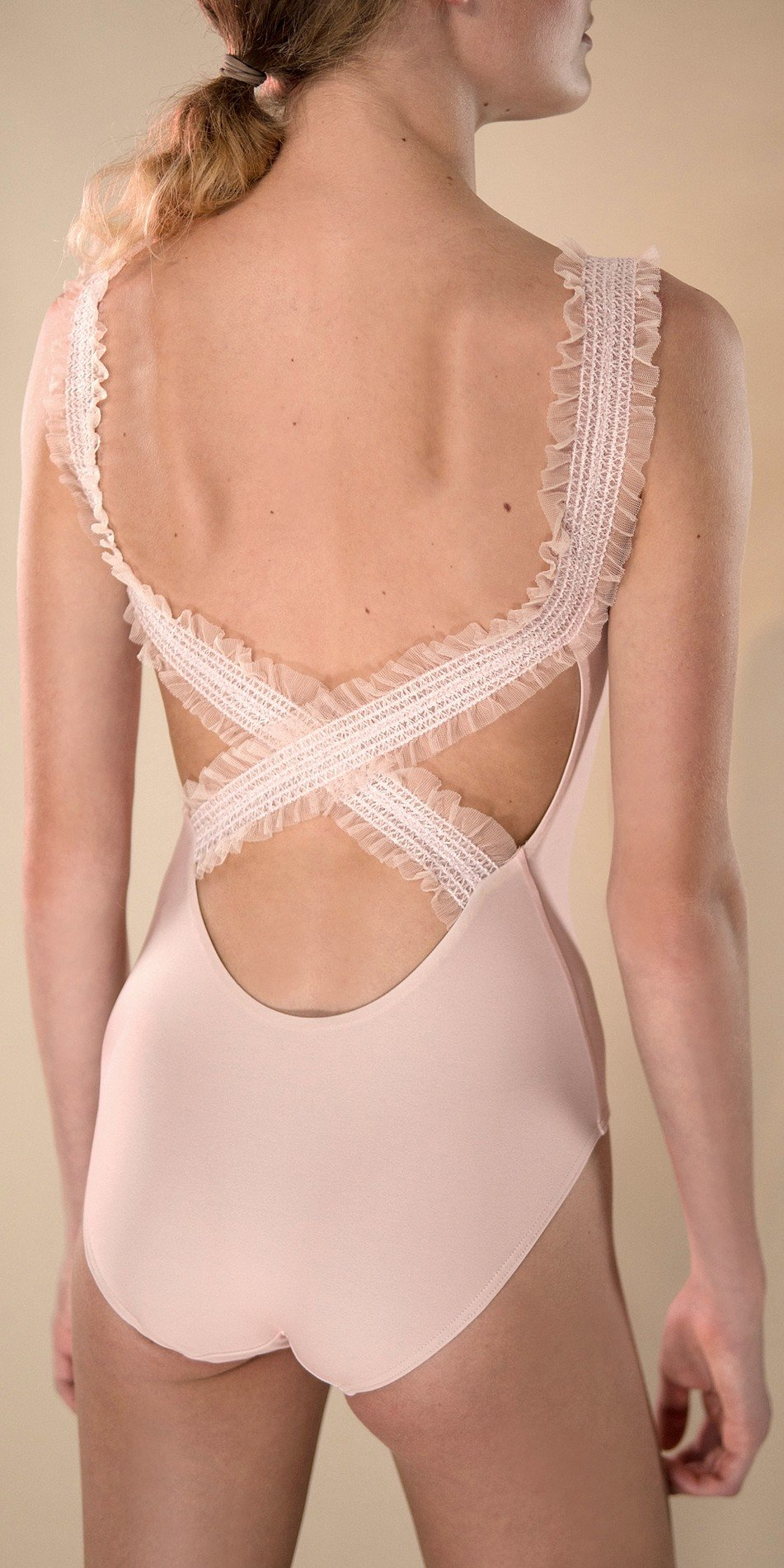 ELEANORE cross back leotard blush 2 r 2