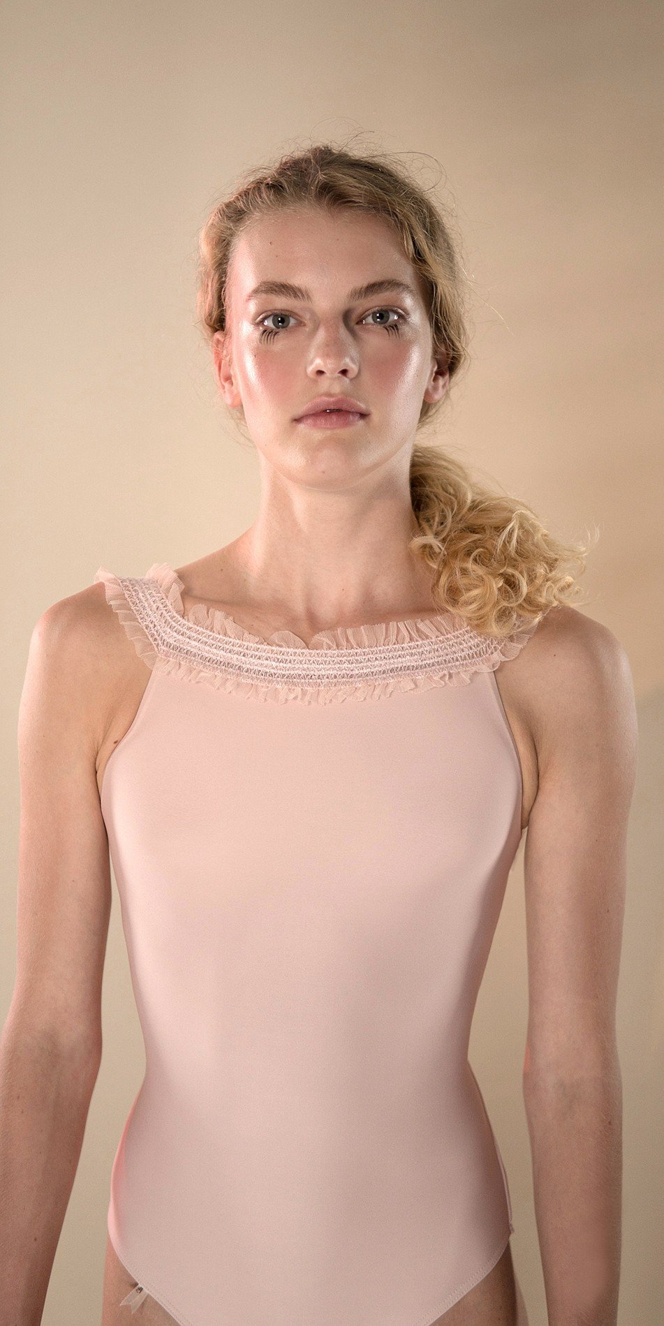 ELEANORE cross back leotard blush 4 r 2