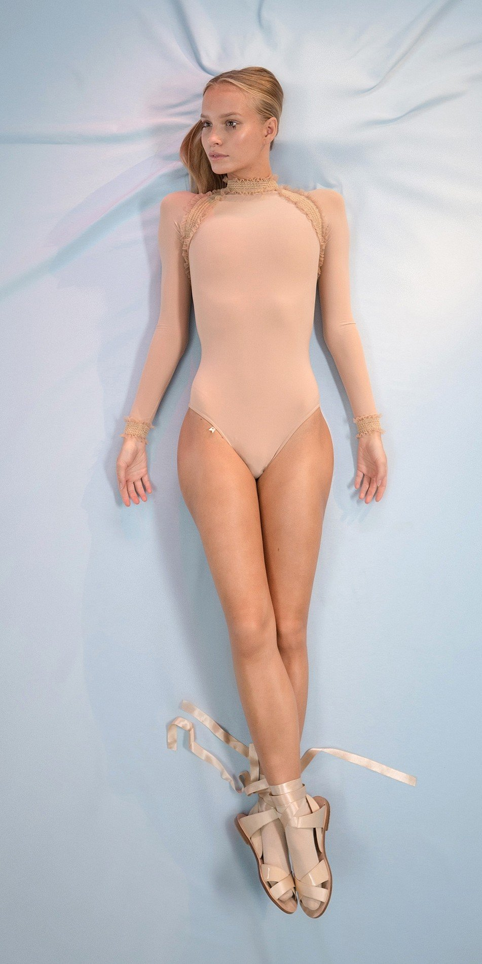 ELEANOR nude backless leotard 1 r