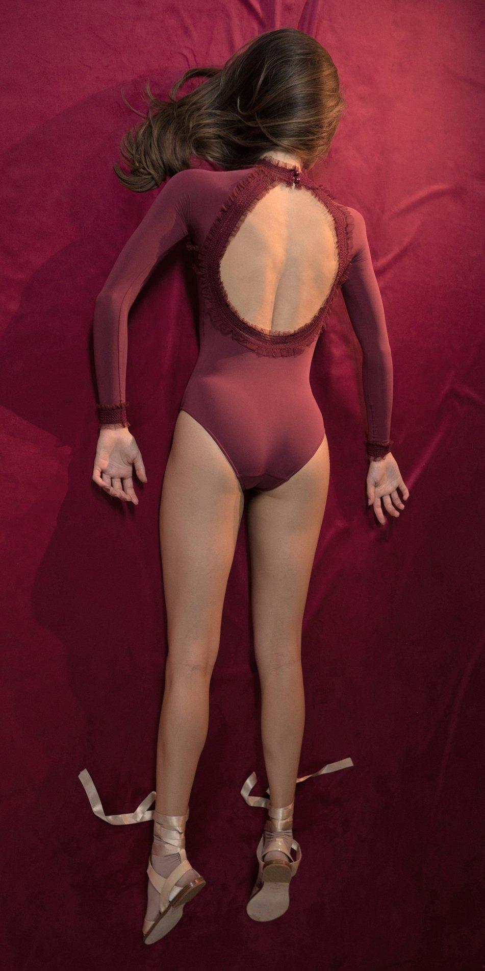 ELEANOR red backless leotard 2