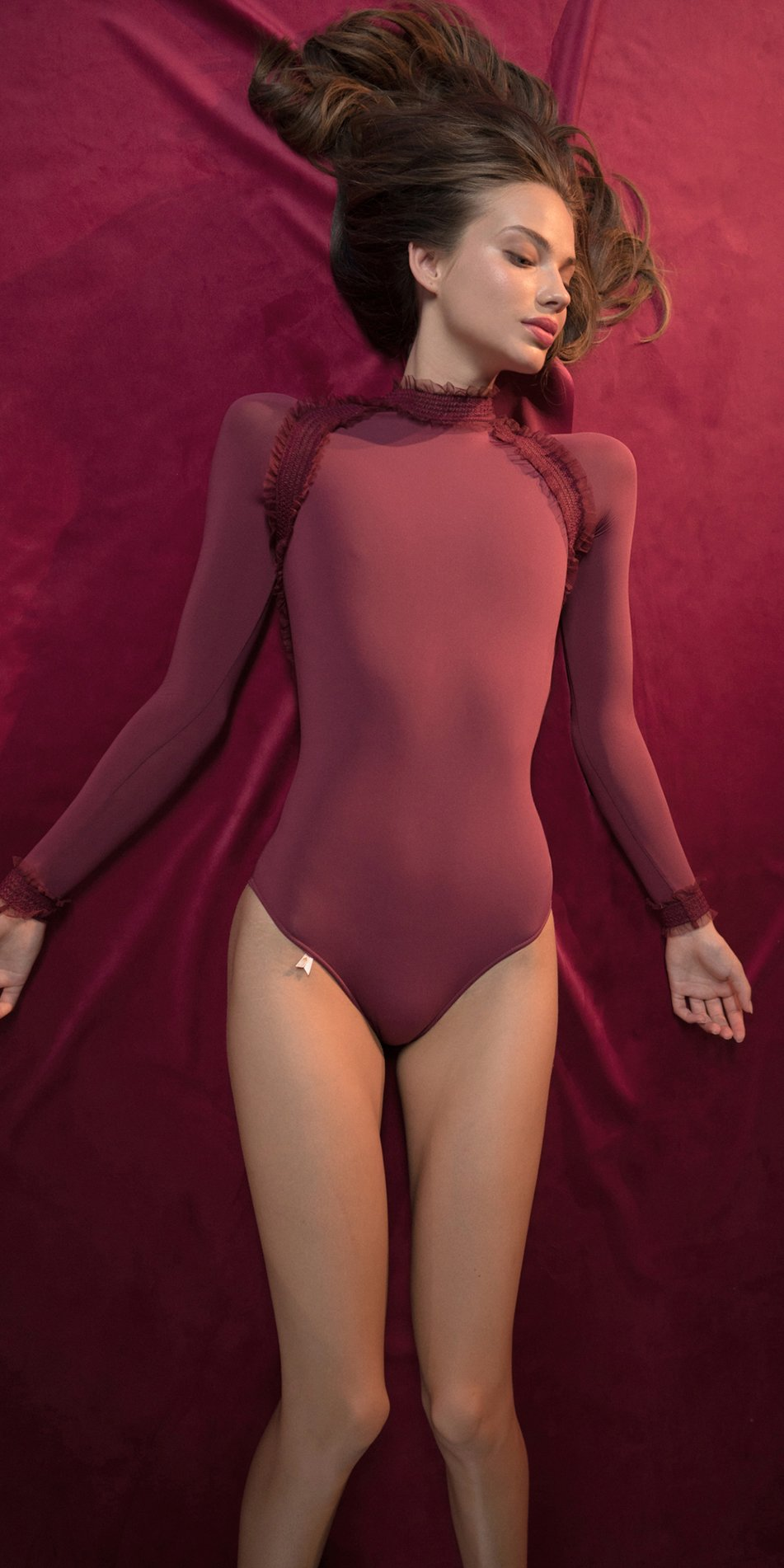 ELEANOR red backless leotard 3