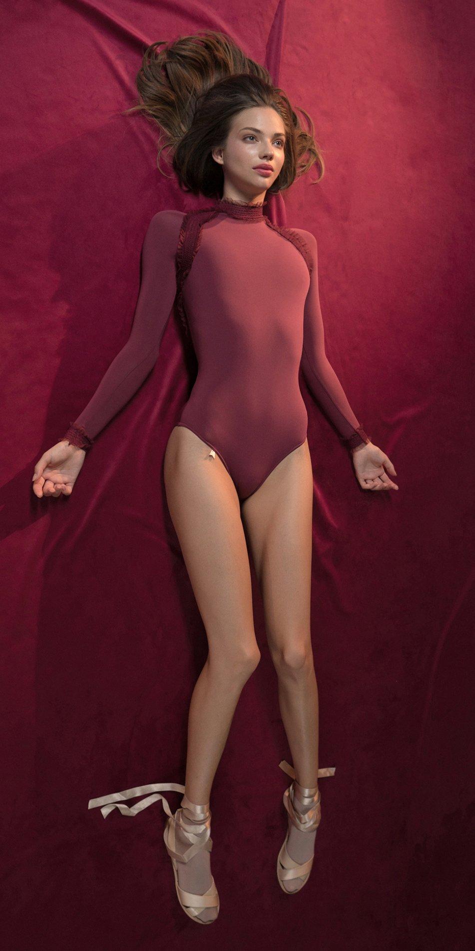 ELEANOR red backless leotard 4