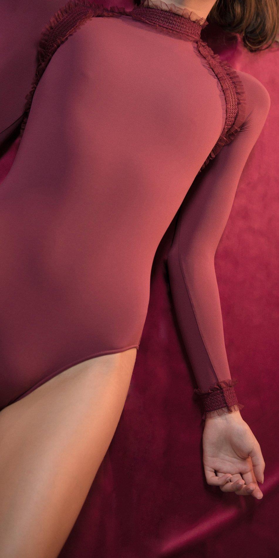 ELEANOR red backless leotard 7