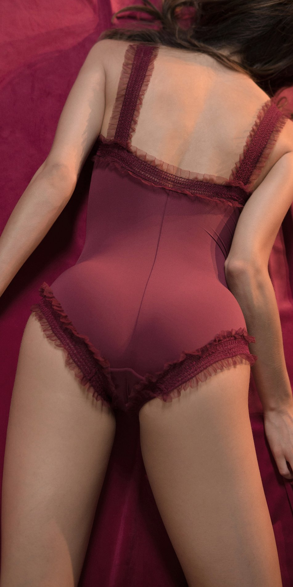 ELENOR red leotard with straps 4