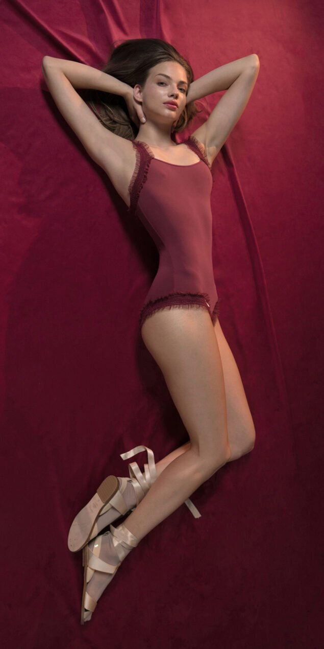 ELENOR red leotard with straps 7