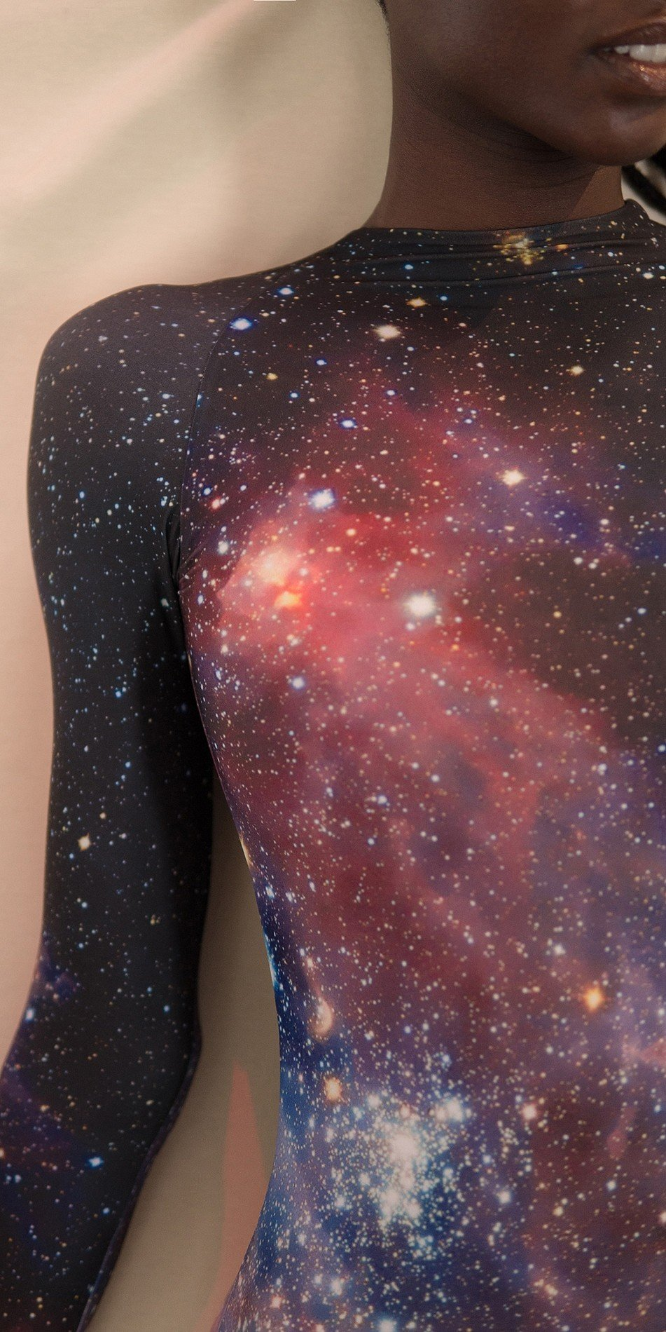 GALAXY leotard with long sleeves night 3 r