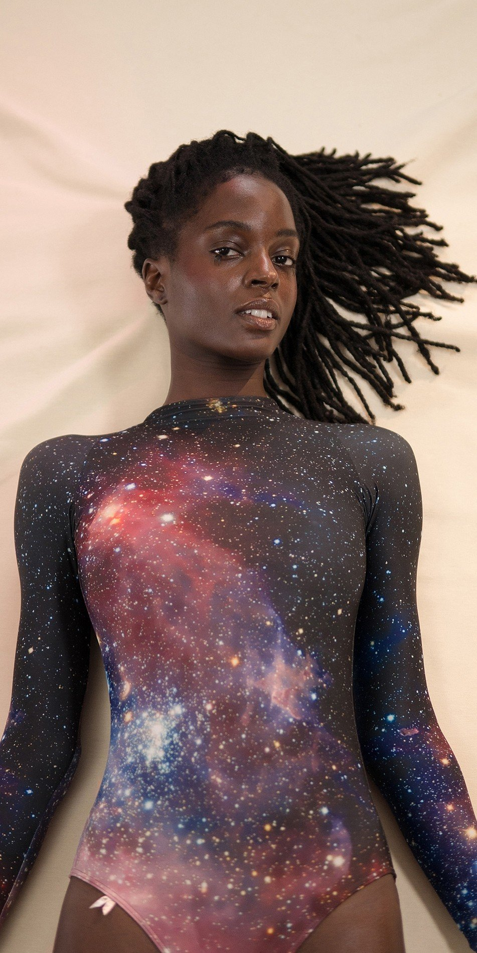 GALAXY leotard with long sleeves night 5 r