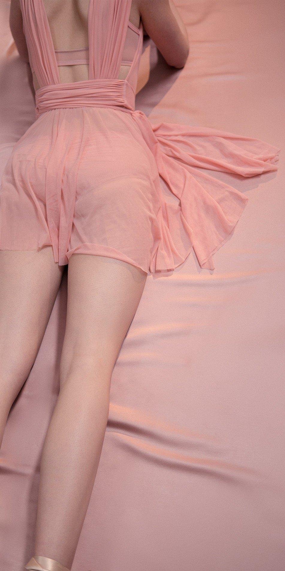 GRES draped20wrap20dress blush 2 r 2