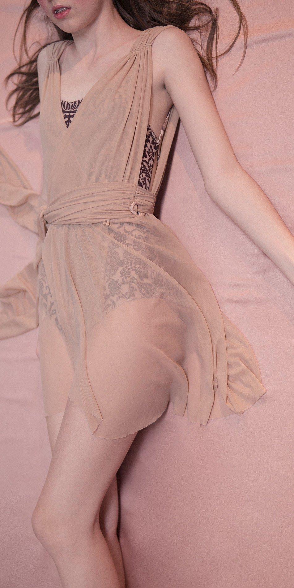 GRES draped20wrap20dress nude 3 r 1