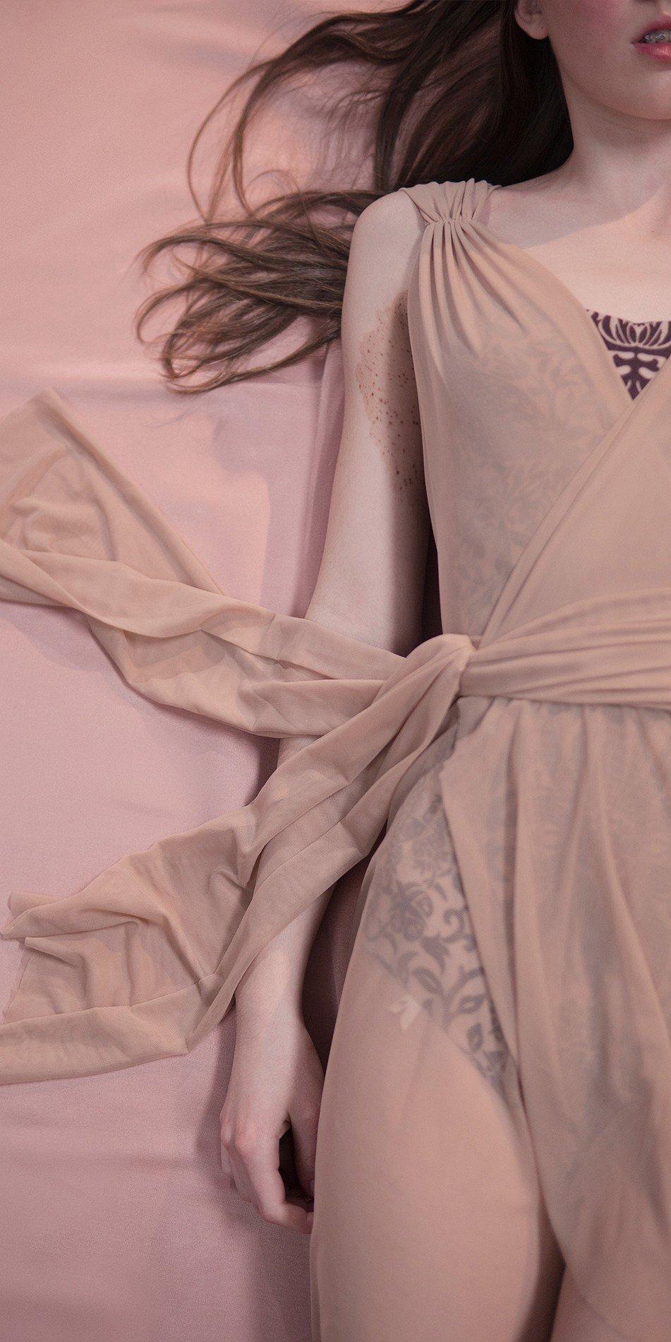 GRES draped20wrap20dress nude 6 r 1