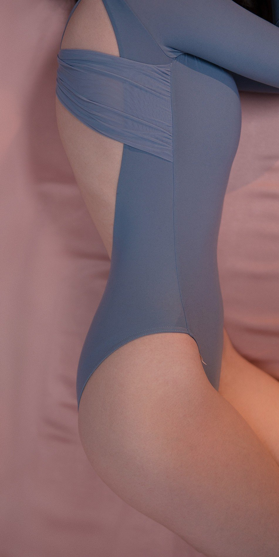 GRES knotted20back20leotard20with20sleeves blue 2 r 1