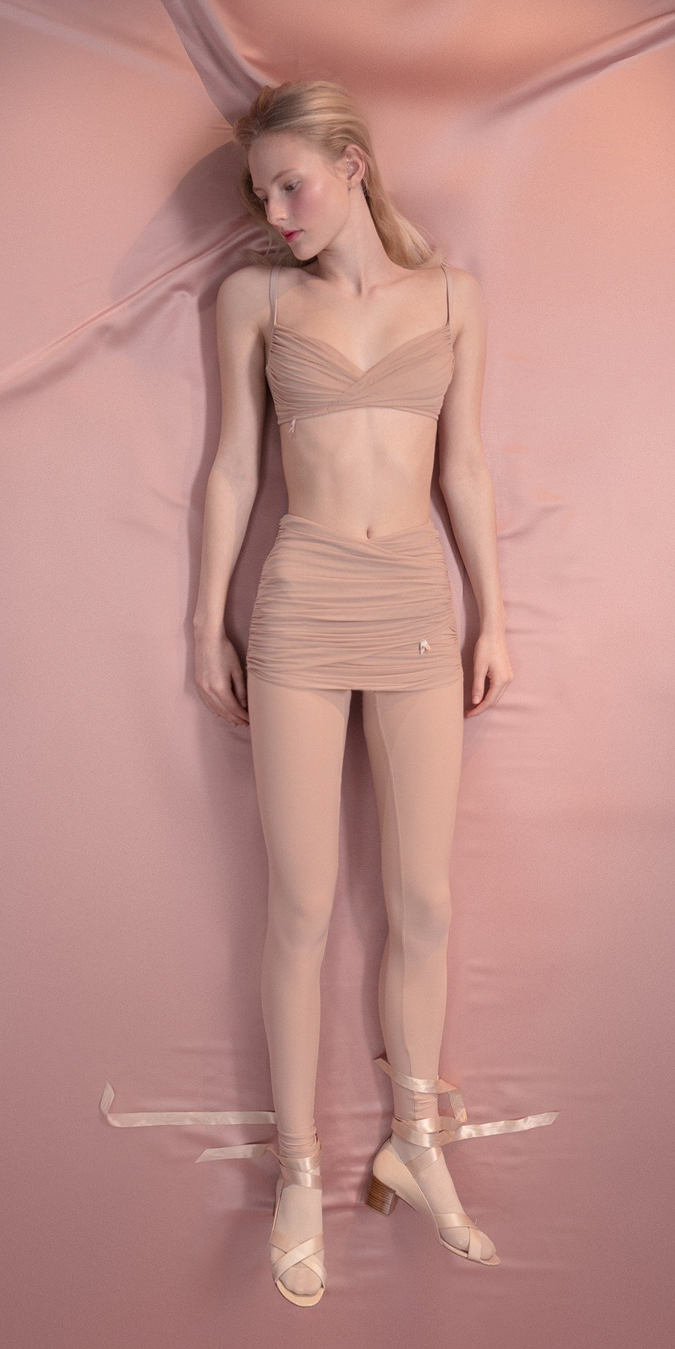 GRES leggings20with20draped20wrap20mini20skirt nude 1 r 1