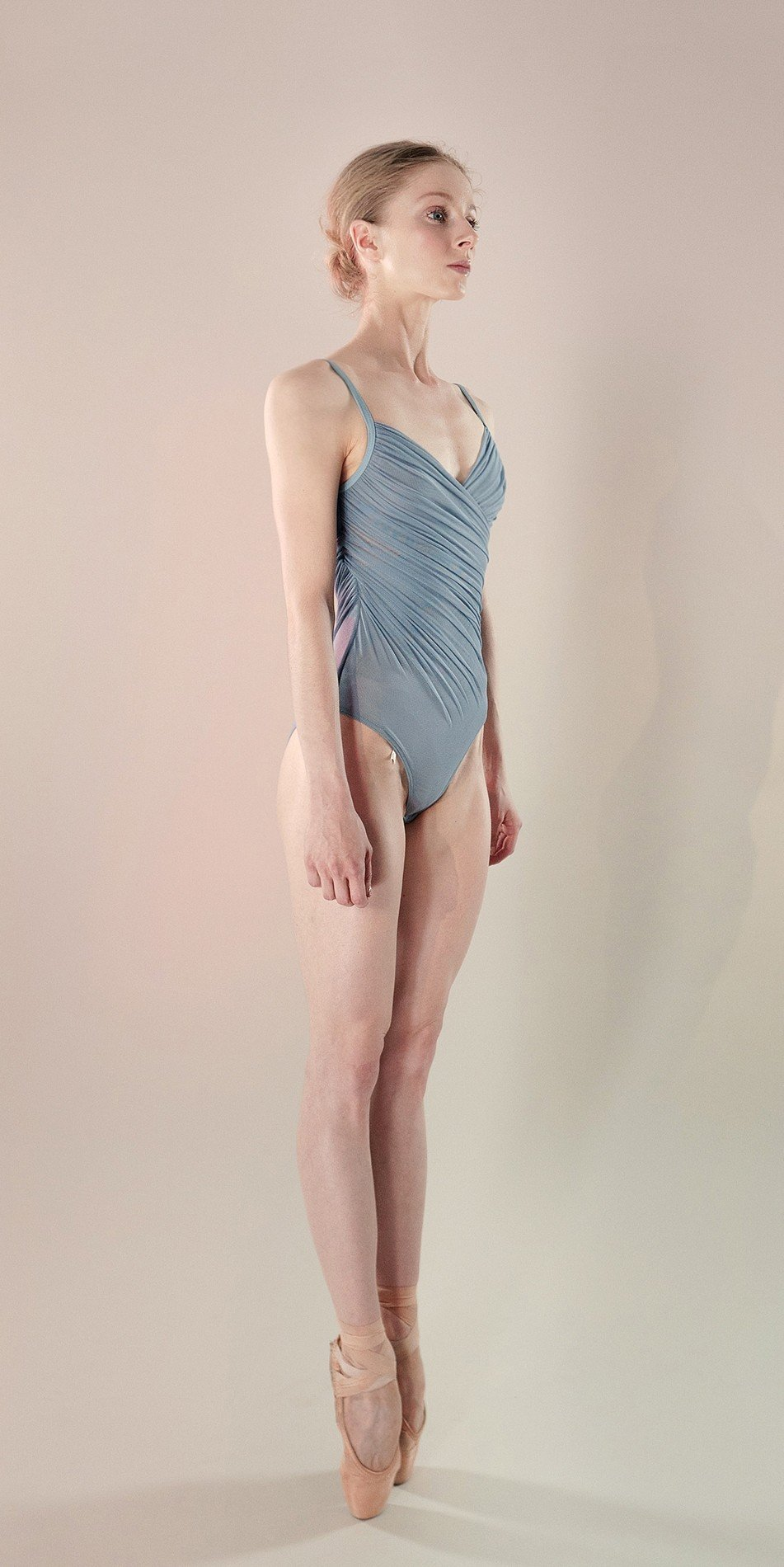 Gres draped leotard blue 4 r
