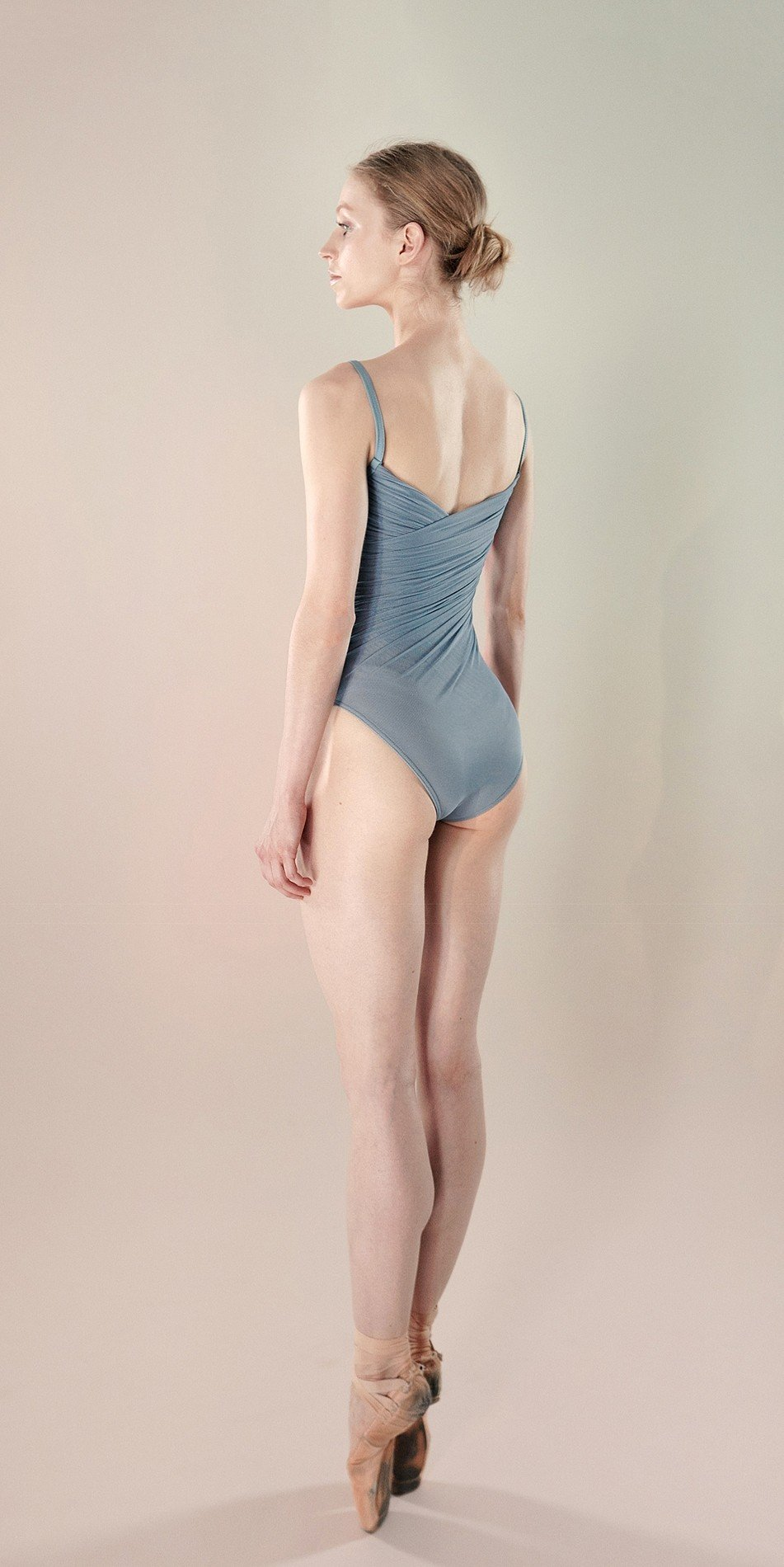 Gres draped leotard blue 5 r