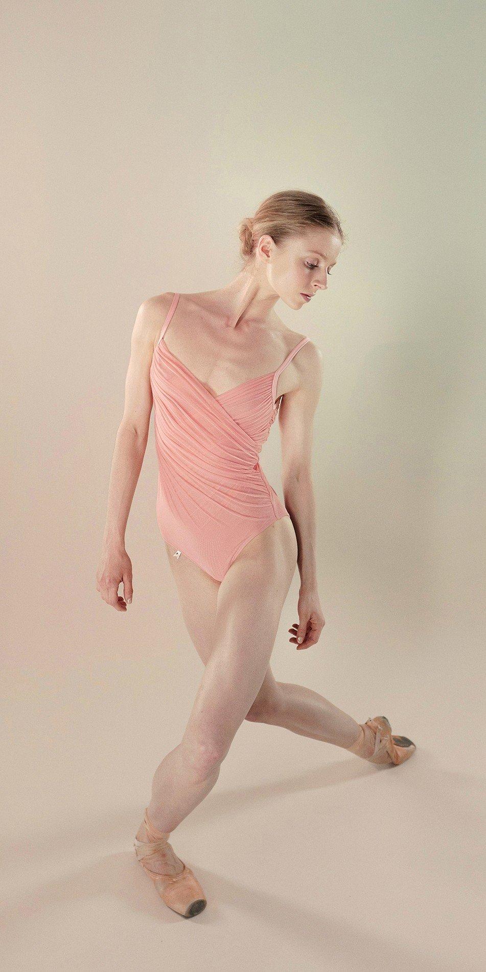 Gres draped leotard blush 7 r