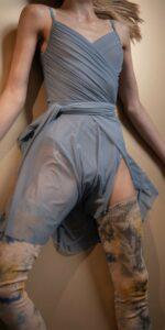 N GRES blue wrap skirt Bloom 1