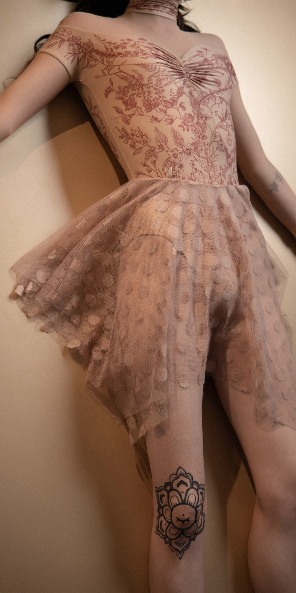 N JUMBO POLKA nude short skirt Bloom 2