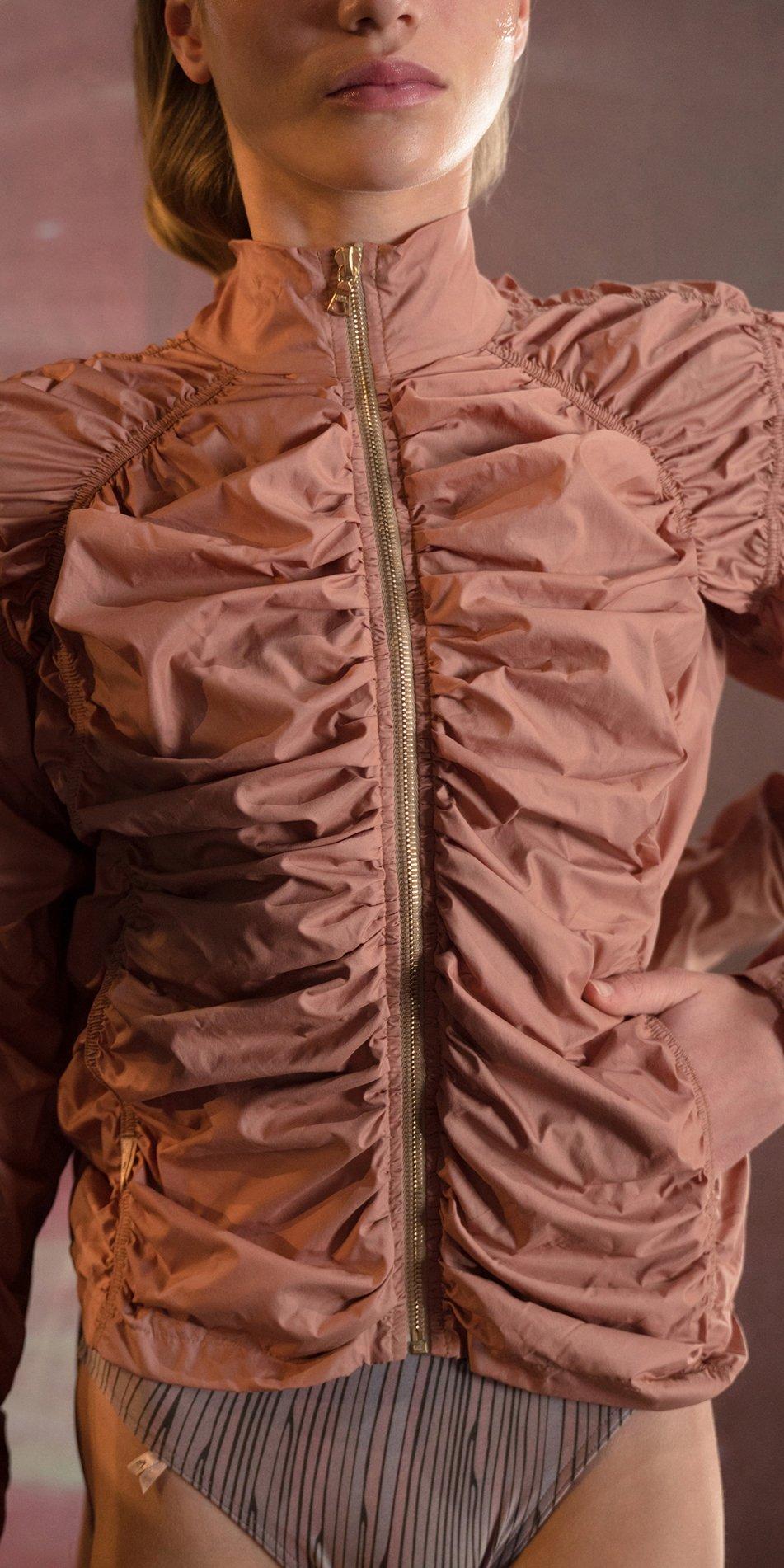 PARA CUTE blush draped jacket 3