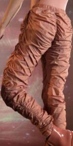 PARA CUTE blush draped pants 2