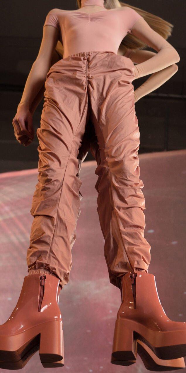 PARA CUTE blush draped pants 6