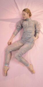 PARA CUTE ice20gray draped pants 1 r