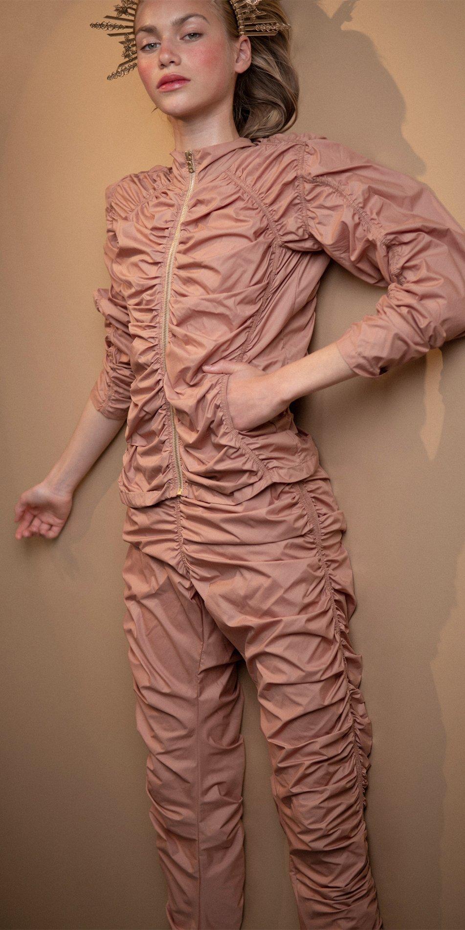 PARACUTE blush draped jacket Bloom 3