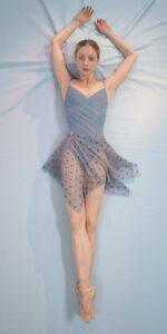 POLKA20TULLE blue mini square skirt 1 r