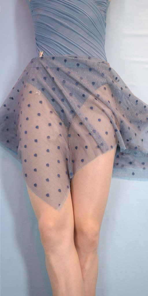 POLKA-TULLE - black short square skirt - just a corpse
