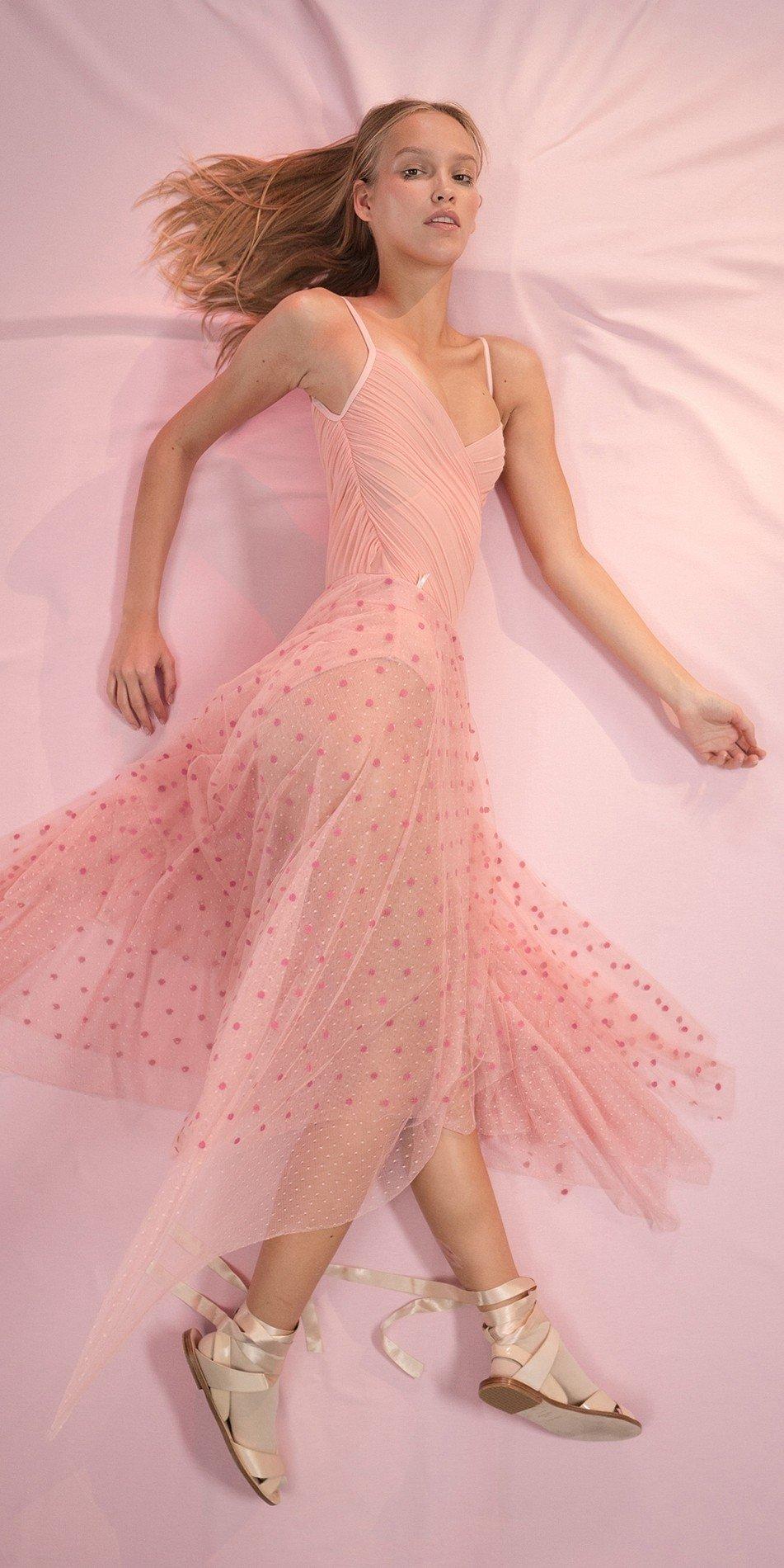 POLKA20TULLE blush long square skirt 1 r
