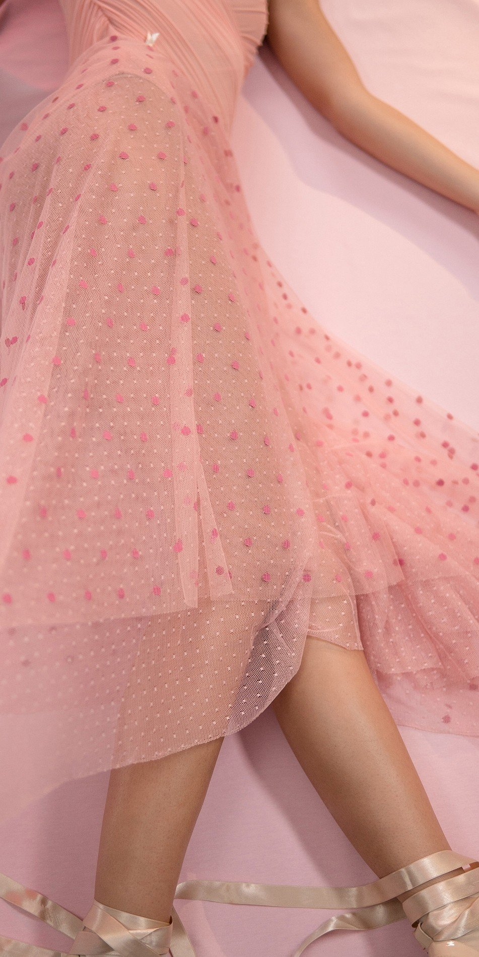 POLKA20TULLE blush long square skirt 4 r