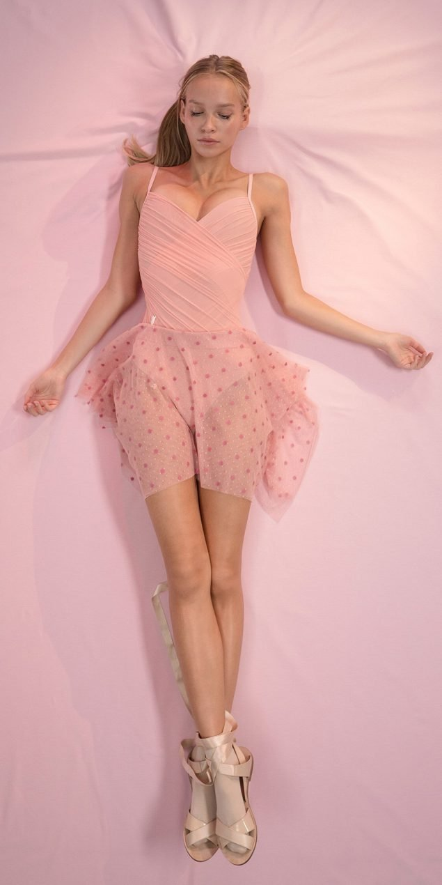 POLKA20TULLE blush mini square skirt 1 r