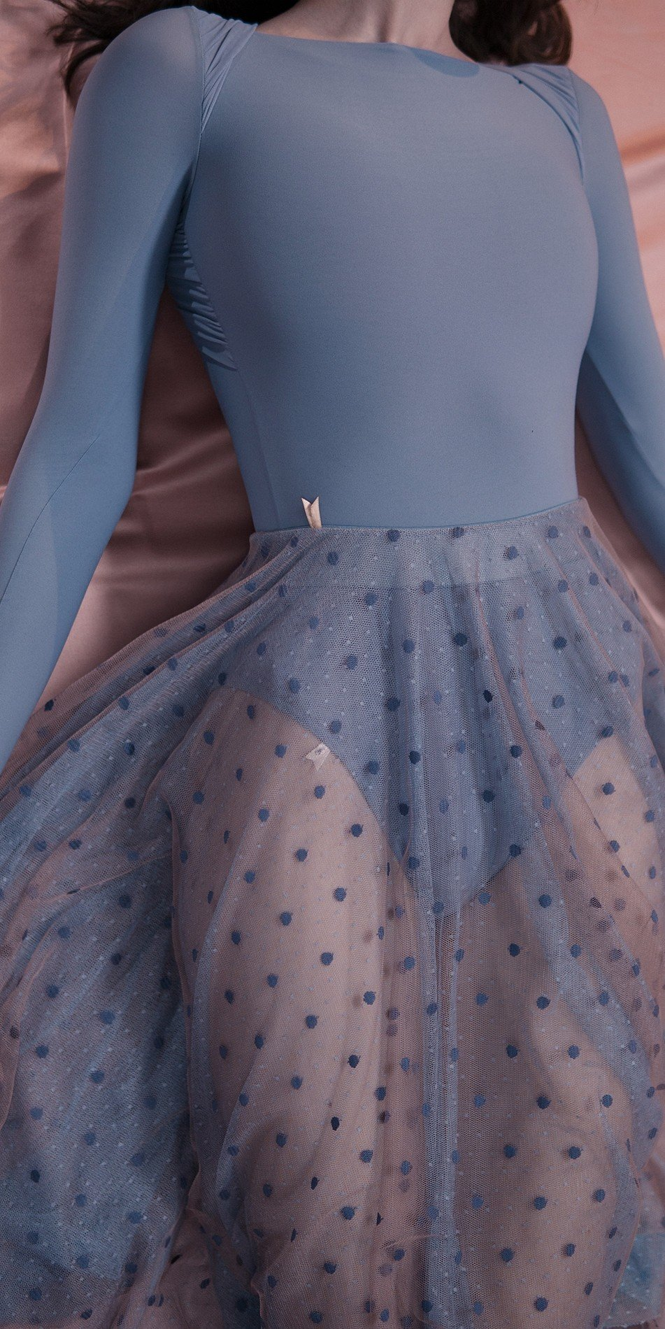 POLKA20TULLE long20skirt blue 1 r