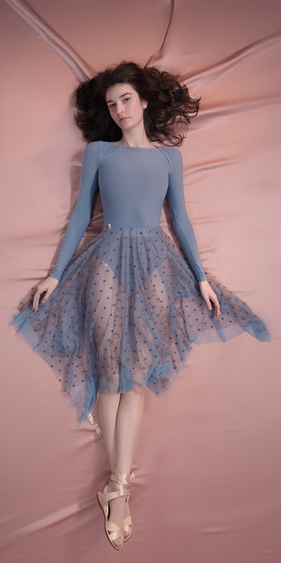 POLKA20TULLE long20skirt blue 2 r