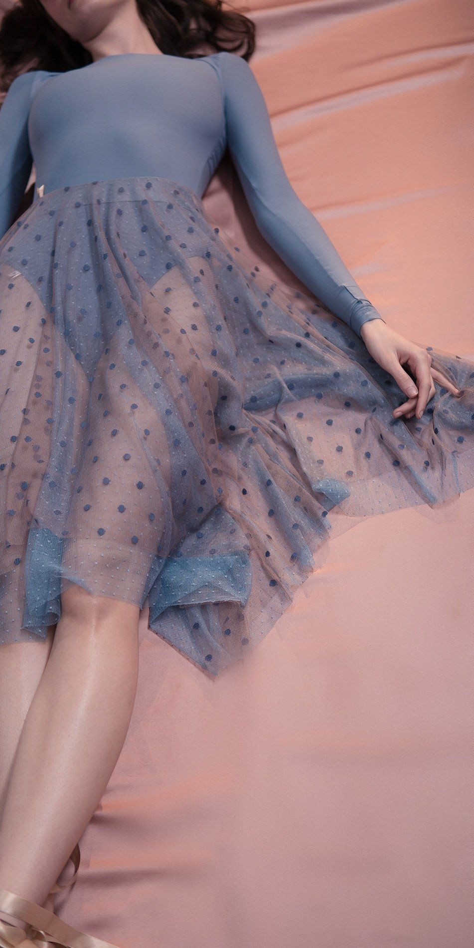 POLKA20TULLE long20skirt blue 3 r