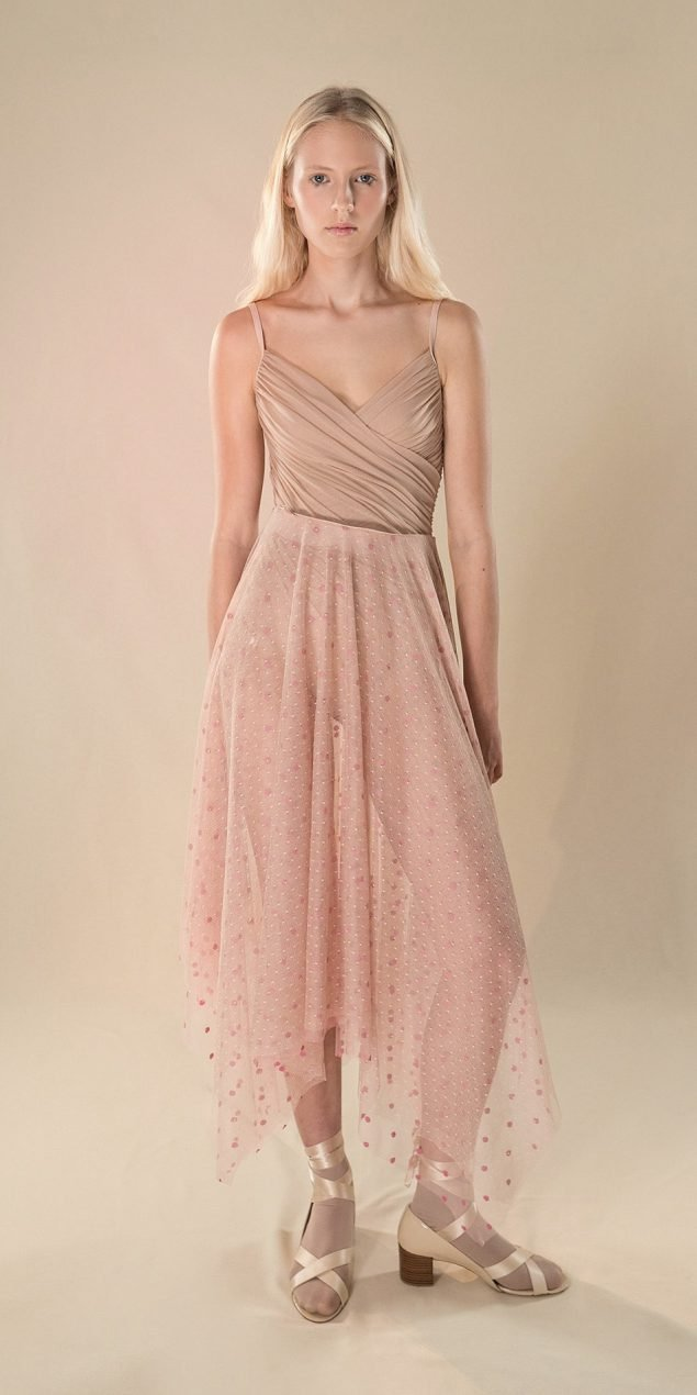 POLKA20TULLE nude long square skirt 1 r