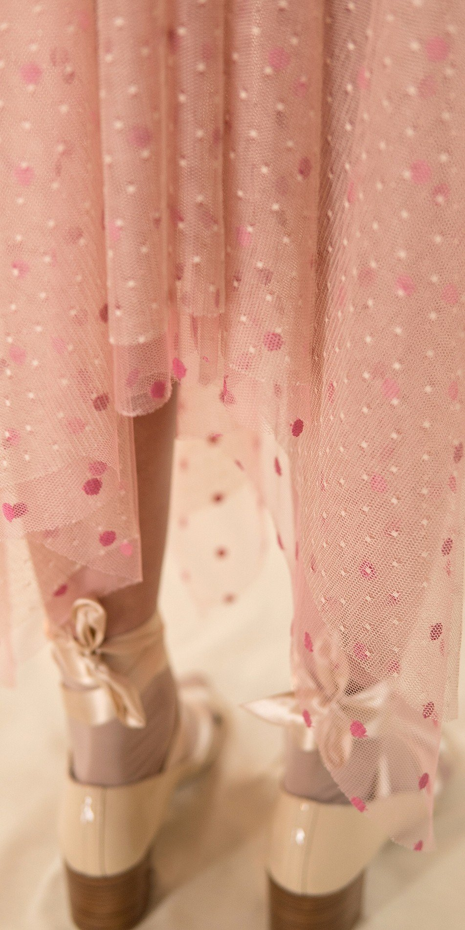 POLKA20TULLE nude long square skirt 2 r