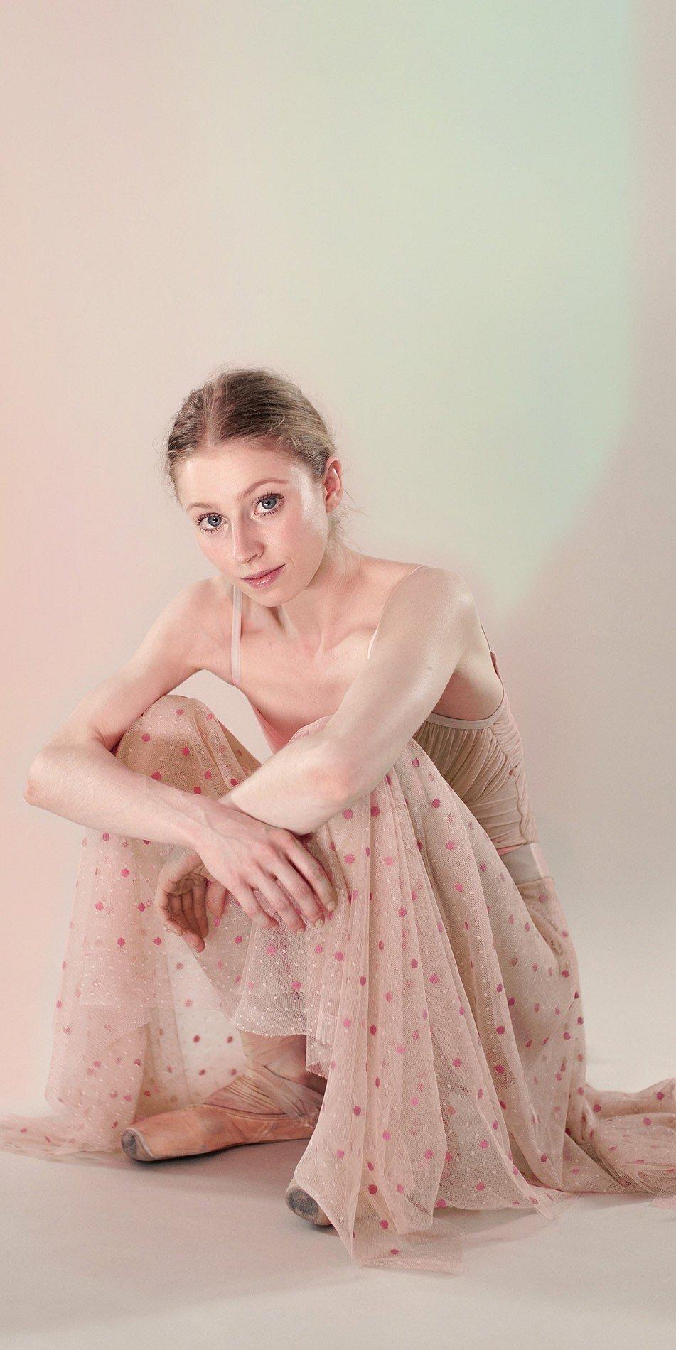 Polka20tule long skirt nude 3 r