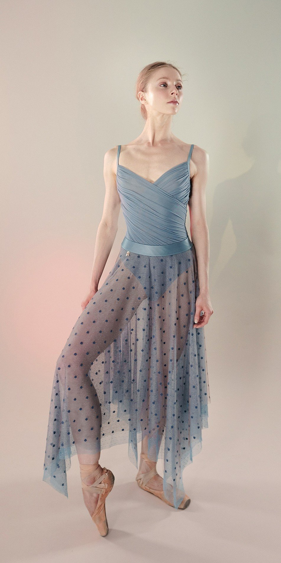 Polka20tulle long skirt blue 4 r