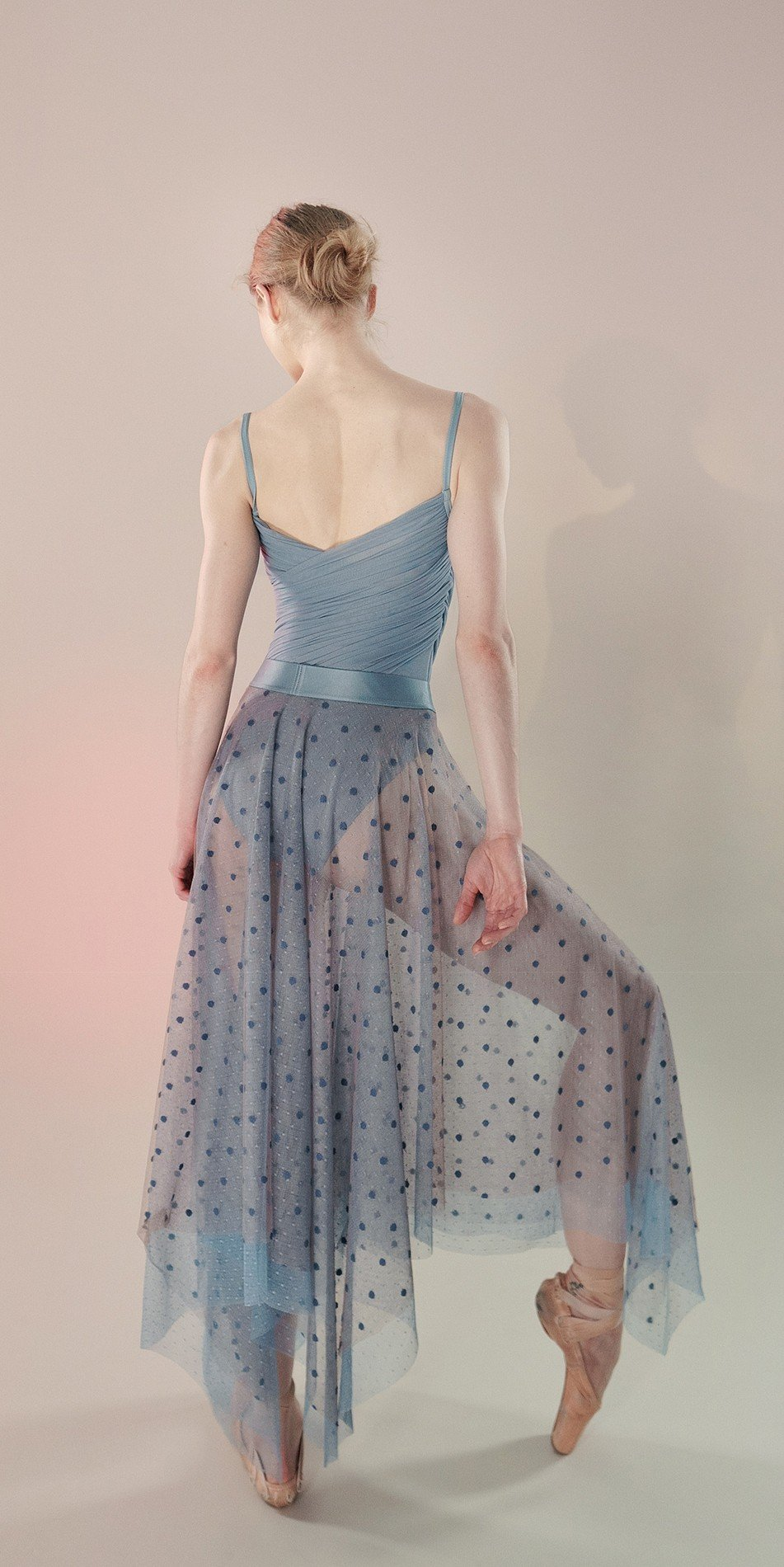 Polka20tulle long skirt blue 5 r
