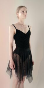 Polka20tulle short dress black 2 r
