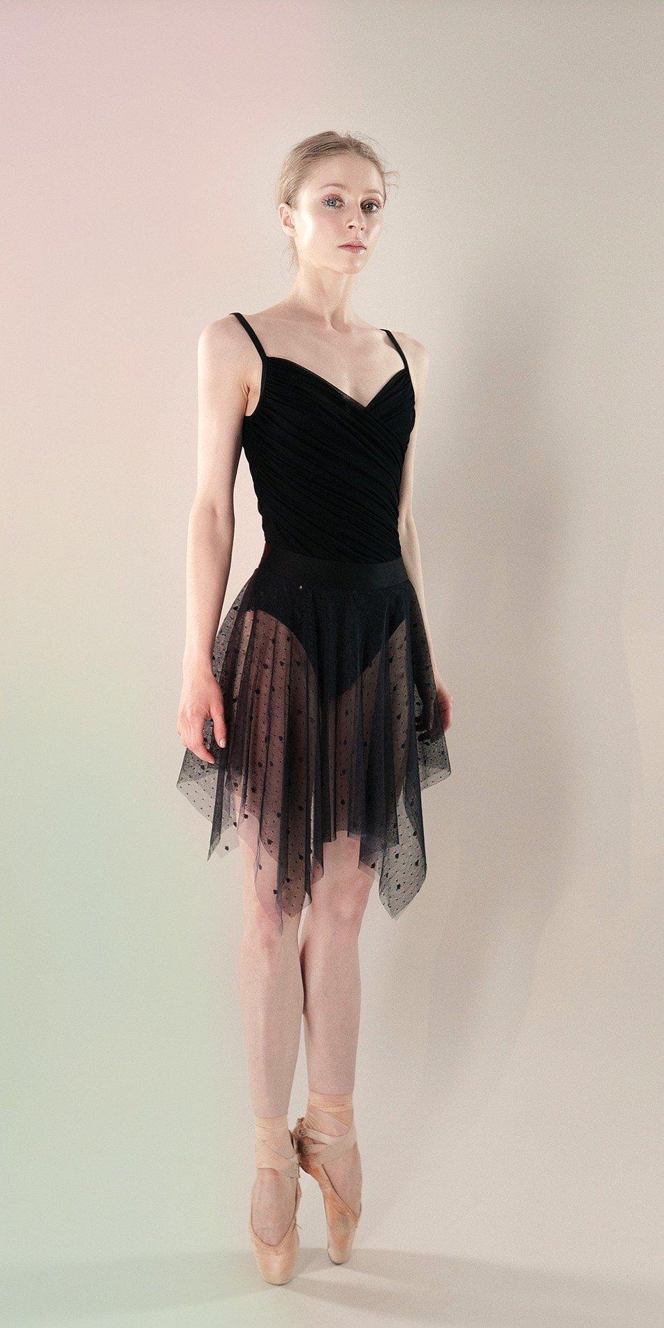 Polka20tulle short dress black 3 r