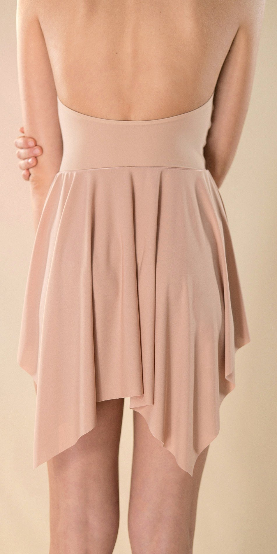 SKINKY nude short skirt 1 r